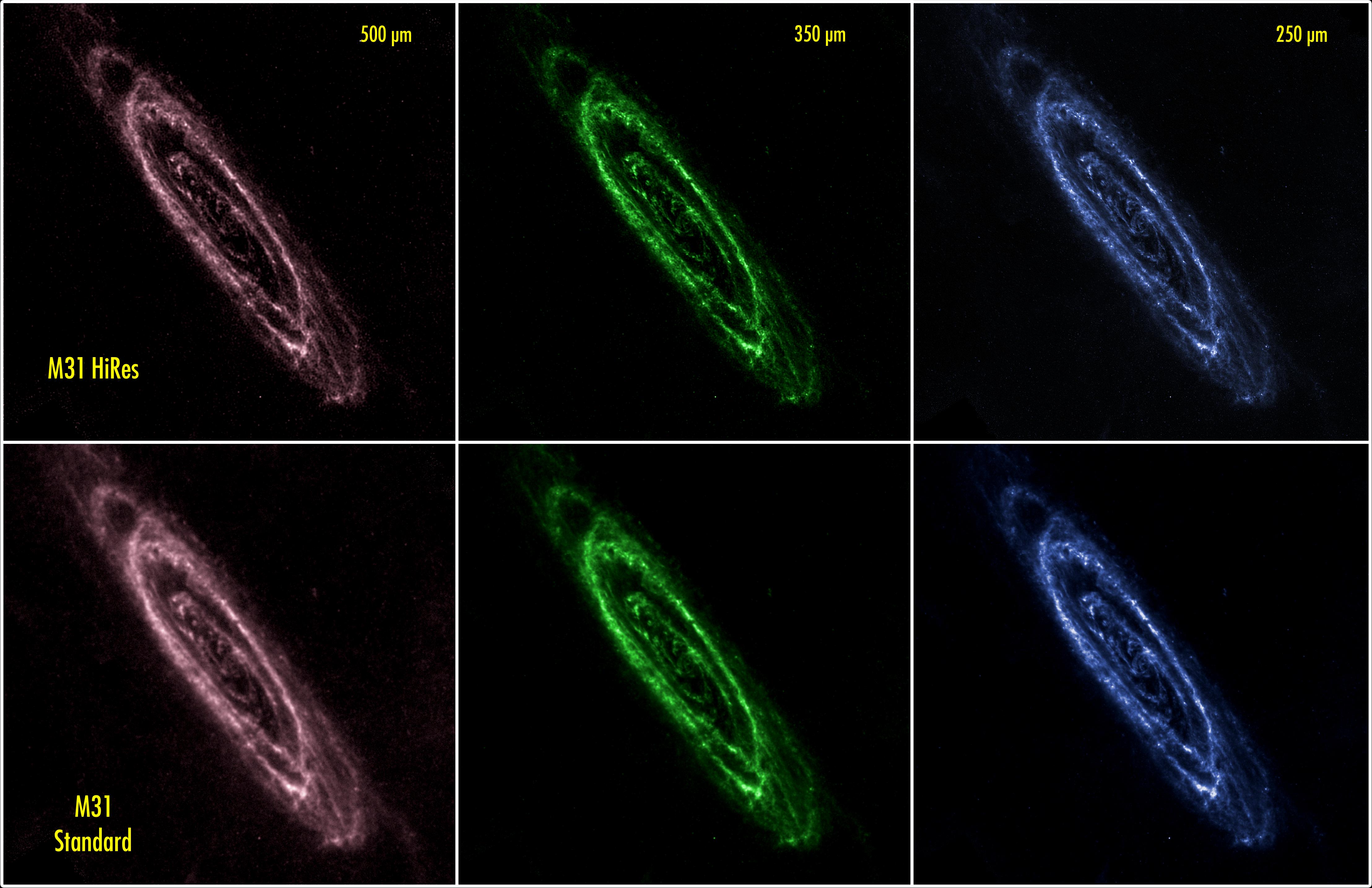 M31 HiRes comparison